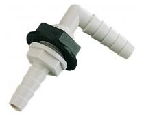 Passe cloison 90º pour tuyau Ø 10 et 12 mm