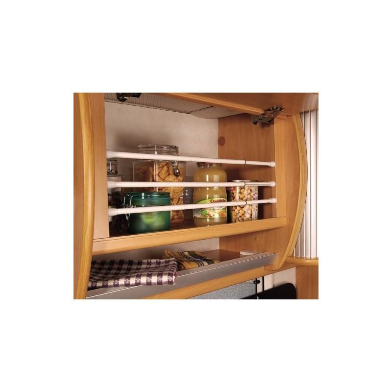 Set de 3 barres extensible 28 images kit de tringle for Tringle rideau cuisine