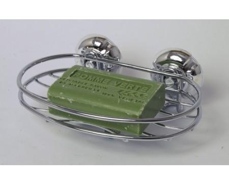 Porte savon acier chromé avec fixation ventouses