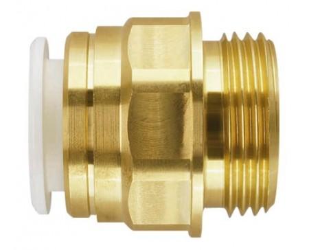 Union simple mâle 1/2 de 12 mm laiton John Guest