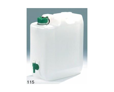 Jerrican en plastique alimentaire 10 litres avec robinet 365x255x160