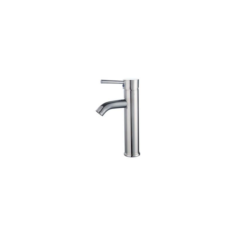 robinet mitigeur haut pour vasque en métal chromé Ø 35 mm trigano