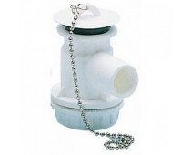 Bonde siphon Perçage cuve 31 mm. Sortie Ø 25 mm.