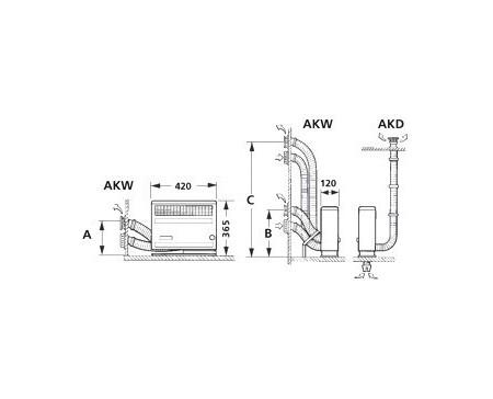 Kit de ventouse longue pour Truma S2200 (variante C)