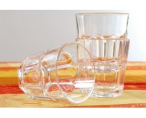 Verre transparent et empilable Lot 6 verres SAN