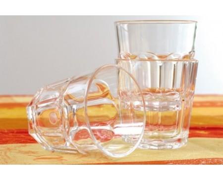 Verre transparent et empilable Lot 6 verres SAN