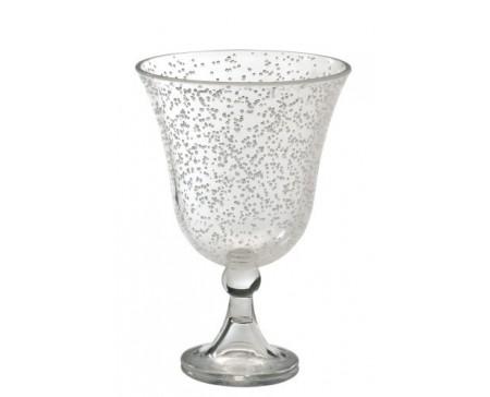 Verre à vin avec bulles transparentes