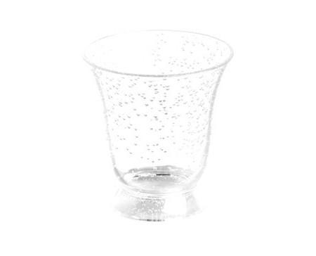 Verre à eau acrylique bulles transparentes