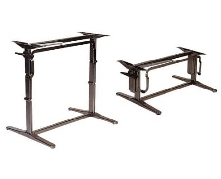 Pied de table automatique marron grand modèle