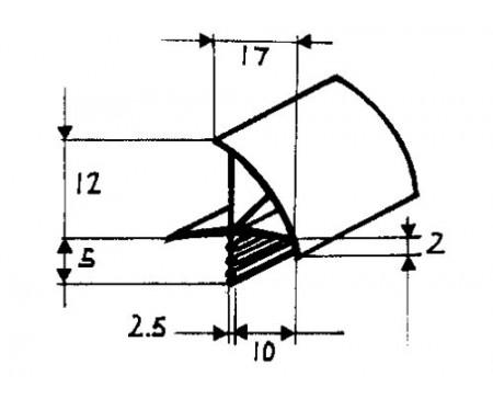 Profilé de feuillure de porte