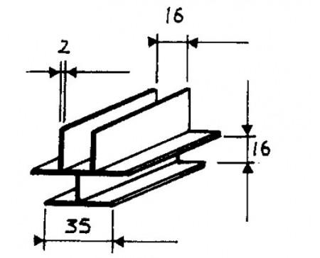 Profil d'assemblage en T 2,2 m