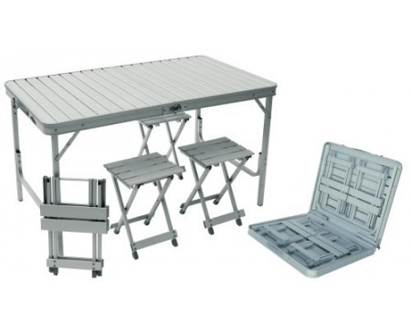 Valise table + 4 tabourets