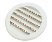 Grille plastique Ø95 avec moustiquaire blanc