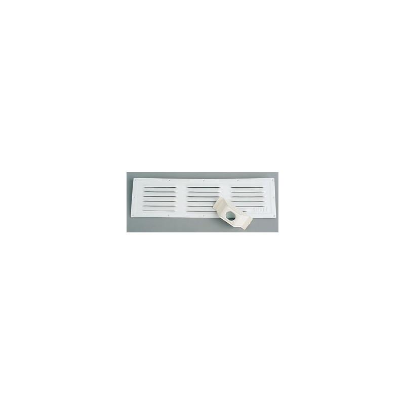 grille aluminium laqu blanc 495 x 143 omega. Black Bedroom Furniture Sets. Home Design Ideas