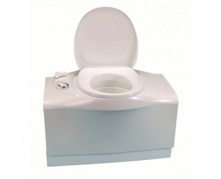 WC fixe C402 C gauche + portillon blanc