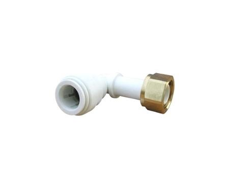 Raccord équerre femelle adaptateur robinet avec écrou laiton