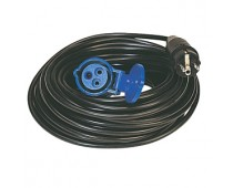Prolongateur 25m 230 V - Mâle (2P + T) - Femelle P17