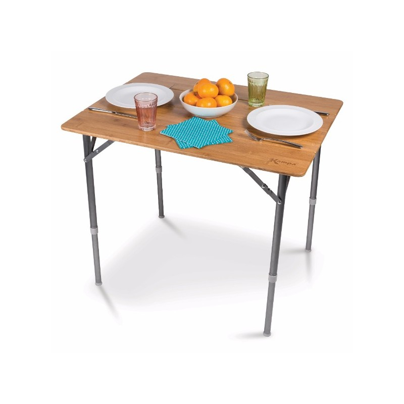 Table en bambou medium 60 x 80 cm kampa for Table cuisine 60 x 80
